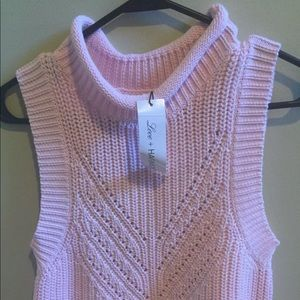 Free people love + harmony pink sweater size S/M